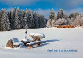Winterbillet Holzstoß